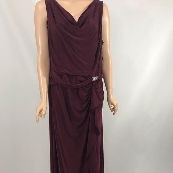 R&M Richards wine plus size dress sz 18 NWT